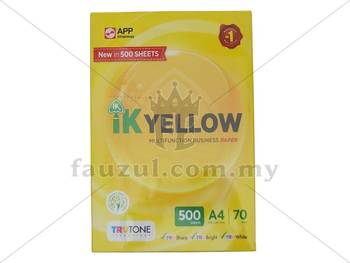 Ik Yellow 70gm A4 500 Sheets