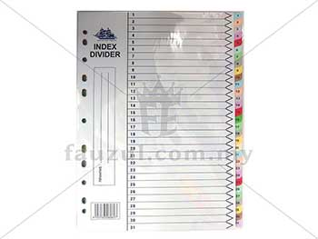 Battleship Colour Index Divider 1 -31