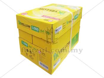 1 Box Ik Yellow 70gm A4 5 Reams