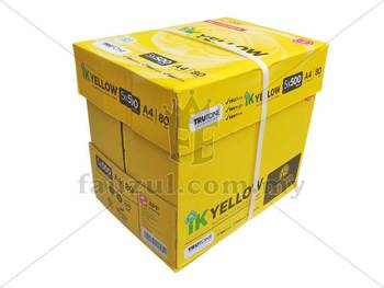 1 Box Ik Yellow 80gm A4 10 Reams