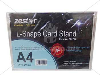 Acrylic Stand L Shape A4 Size  Zs-727