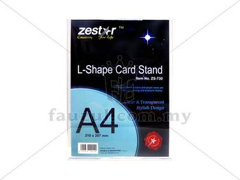 Acrylic Stand L Shape A4 Size  Zs-730