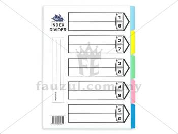 Index Divider A4 5 Colours Without Hole