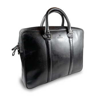 Leather Office Executive Bag Black Kr001