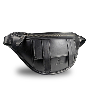 Leather Bum / Waist Bag Black Kr-006