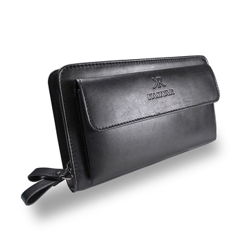 Leather Clutch Wallet Black Kr-015